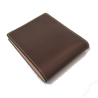Hand made custom Français leather wallet / men's short clip / color can choose