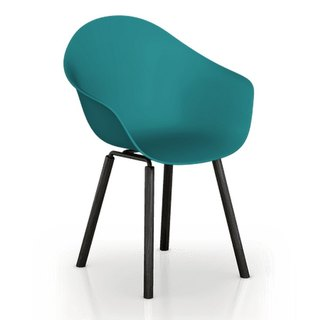 TOOU ArmShell Chair with black oak legs (marine blue)