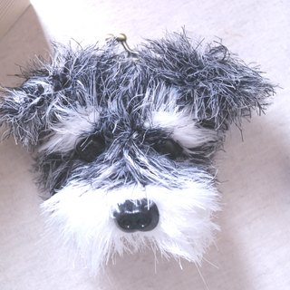 Handmade Pet-8cm Schnauzer mouth gold package