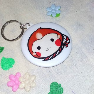 [Kyrgyzstan] dream mirror keychain + badge [into] two