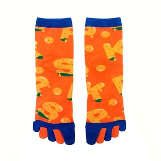 Northern Taiwanese fruit / orange blue / passion if series socks
