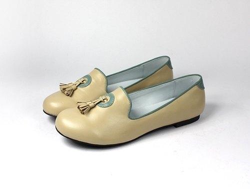 米 流蘇樂福鞋