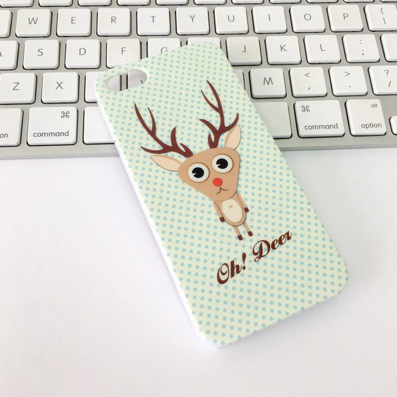 香港原創設計 可愛動物小鹿圖案  iPhone X,  iPhone 8,  iPhone 8 Plus, iPhone 7, iPhone 7 Plus, iphone 6/6S , iphone