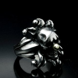 Joker Skull Ring | Abnormal Circus Collection | Clown Skull Ring (L)