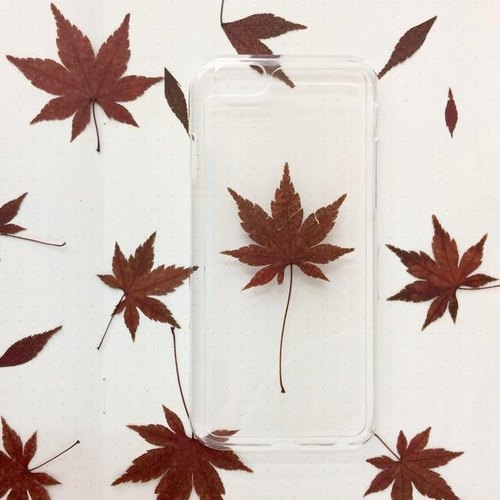 It's Fall :: pressed flowers Maple phone case