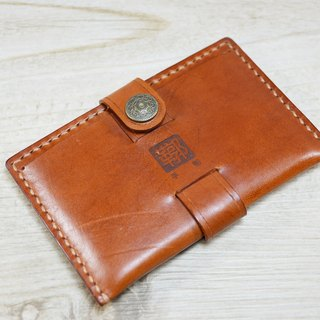 【kuo's artwork】 Hand stitched leather card holder