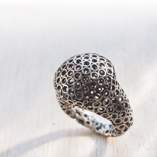 [Silver] neutral Xia Bomi Creative Bubble hollow ring. - You can choose to put inside a stainless steel 925 handmade silver beads recommend special festive gift specialties...