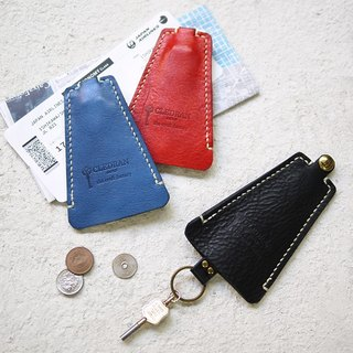 Japanese leather creative key ring key case Made in Japan by CLEDRAN