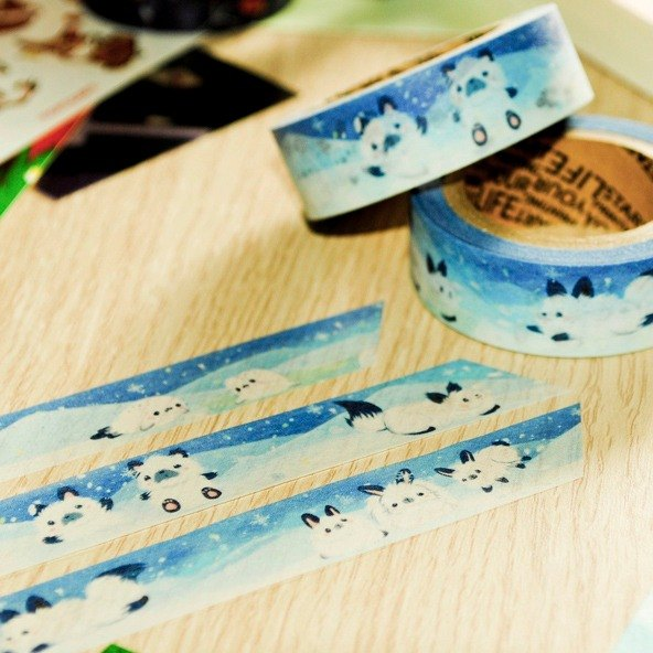 Snow Furry * Masking tape