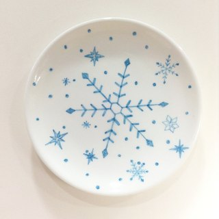 Snowflakes / Pink - [Spotless] Christmas hand-painted 6-inch cake pan [Christmas / Christmas gift / exchange of gifts]