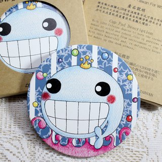Ceramic water coaster _ (Love Laughing Whale)