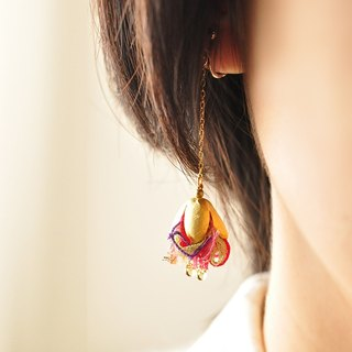 Ribbon tassel earrings