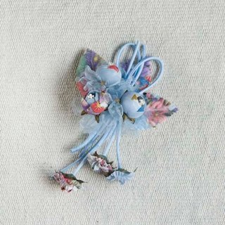[MITHX] Fu Ying, three shell Jin, a small side clip brooch, styling hair accessories - Blue