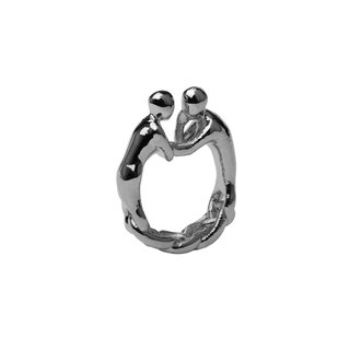 STUDIO MANGO] 2gether [Silver Aluminum plating Ring Ring