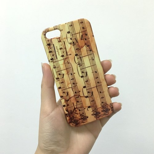 Vintage music notes pattern 3D Full Wrap Phone Case, available for  iPhone 7, iPhone 7 Plus, iPhone 6s, iPhone 6s Plus, iPhone 5/5s, iPhone 5c, iPhone 4/4s, Samsung Galaxy S7, S7 Edge, S6 Edge Plus, S6, S6 Edge, S5 S4 S3  Samsung Galaxy Note 5, Note 4, Not
