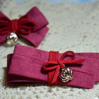 Suede fashion bow - parent-child sister combination