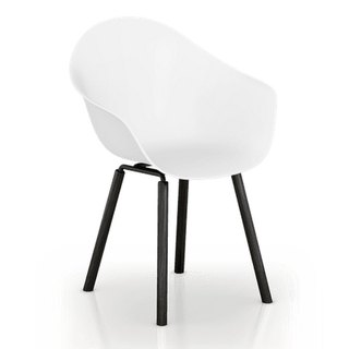 TOOU ArmShell Chair with black oak legs (white)