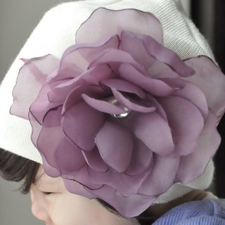 Angel Nina hand-made purple camellia hairpin