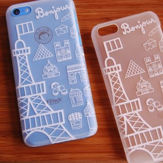 FiFi City Travel iPhone 5C translucent Rear Bonjour Paris!