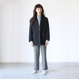 A ROOM MODEL - VINTAGE, CJ-2918 vintage black wool jacket with Shimokitazawa