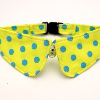 [Miya ko.] Handmade cloth grocery cats and dogs tie / collar round edge / bow / Shuiyu little cute / fun / pet collars