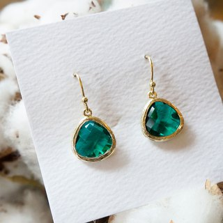 Edith & Jaz • Birthstone Collection - Emerald Quartz(May) Earrings