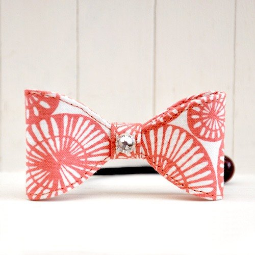 Very pretty series - Pope powder pink orange coil circle cloth bow hair bundle