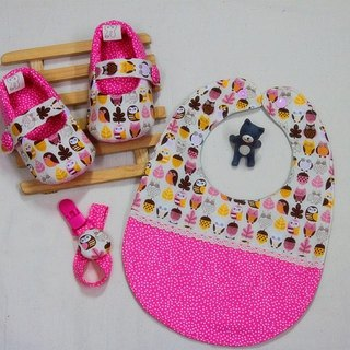 Pray for peace Owl (Pink) - Footwear + twists + pacifier clip births ceremony. The full moon ceremony
