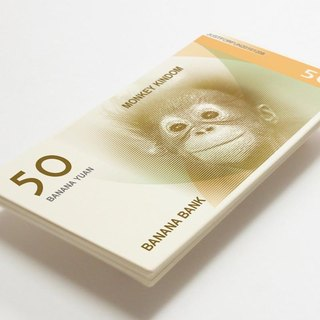 2016 Monkey Year's Greetings Card - Creative Year Monkey Notes 50 Banana 6 - Funny Red envelopes - Year of the Monkey paper currency bookmark -