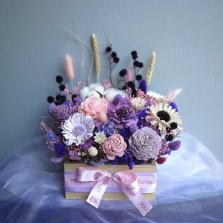 Chongqing Forest - Pink Purple Dry Flower and Flower Gift Box Opening/Exhibition