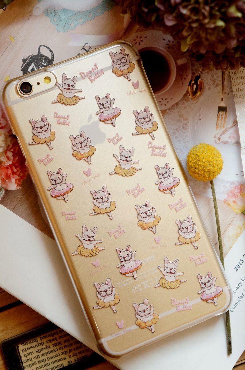 (sold out) i6 plus / i6s plus phone case - donut ballet fight (transparent)