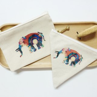 MaryWil Coin Bag-Colorful Elephant