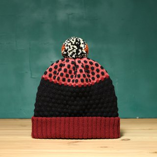 Burgundy Detachable PomPom Beanie Hat