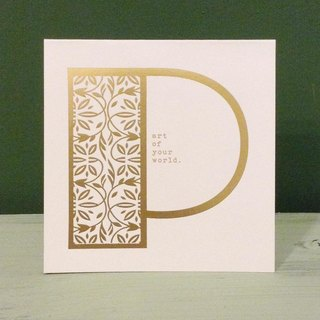 Bronzing letter card envelope sticker group -P