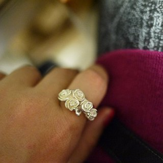 [Jewelry] Jin Xialin ‧ Rose Garden Ring in silver
