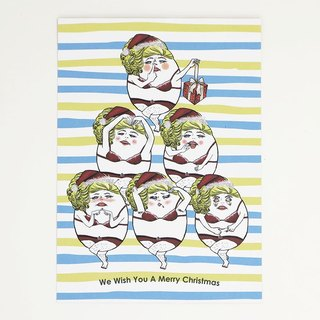 Piglet Diva Christmas card  postcard