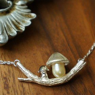Mushrooms are :: pearl sterling silver necklace ♦ NINA SHIH JEWELRY ♦ treetop