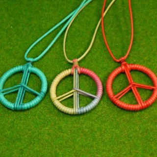 TvT / PEACE peace braided rope necklace (no braided paragraph)
