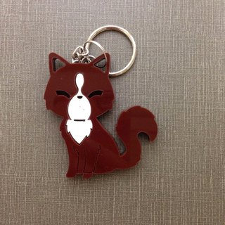 I love the zoo - Luwak white acrylic key ring