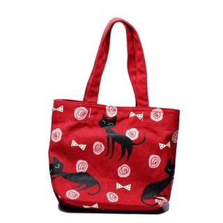 Noafamily, Noah Rose Cat Horizontal Tote _R A602-R