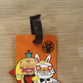 The Queen of Hearts and the Rabbit‧ Luggage tag (Alice in wonderland)
