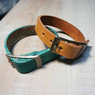 Sienna leather bracelet (Custom 1.5cm wide) * not typing