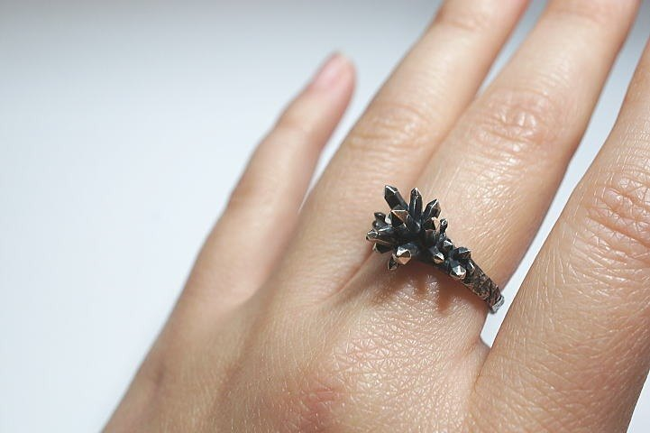 [No. 11] crystal crystal ring silver decoration smoke processing