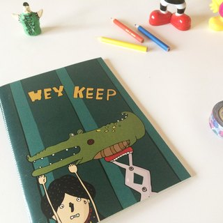 HEY KEEP !! A5 hand-sewn squares notebook