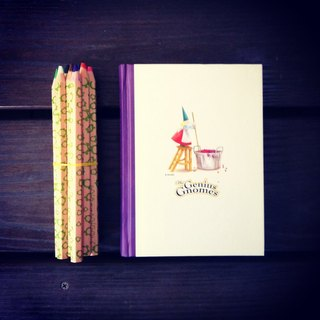 France Le Migou colored pencil set + The Genius Gnomes solid note book