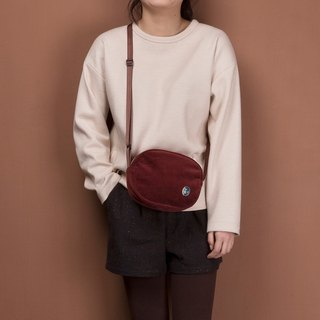 ntmy. Heavy washed corduroy shoulder bag backpack oblique oval small backpack