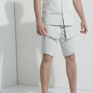 Sevenfold * Special Flap Shorts (No Pockets) (Light Gray) special flap shorts (no pockets) (light gray)