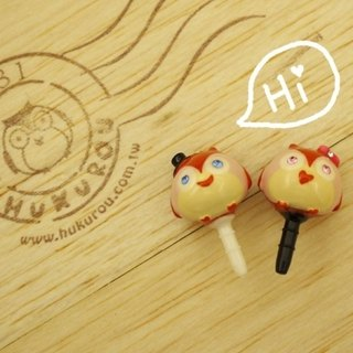 "§ HUKUROU§ Jewelry ‧ Grocery § ""Owl"" earphone hole plug (one pair)"