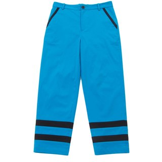 Sevenfold - Color matching stitching pant hit color stitching trousers (sapphire)