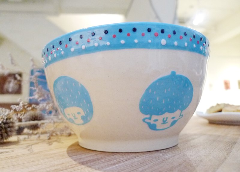 Face face bowl - blue